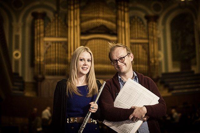 Award winning flautist Eimear McGeown is pictured with composer and recent recipient of the Arts Council's Major Individual Artist Award, Conor Mitchell ahead of the performance in Portadown later this month