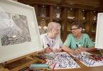 Hemsworth Court Artists/Residents Margaret Crawford and May Hall