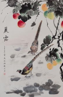 Exhibition of contemporary Chinese painting in the Crescent Arts Centre, Belfast during the Chinese New Year.