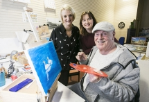 Pictured launching the good news is (L-R) Lorraine Calderwood, Arts Council of Northern Ireland, Jacqueline O'Hagan, Eastside Arts, with Bobby Porter from the East Belfast Men's Shed, one of the organisations set to benefit from the funding.