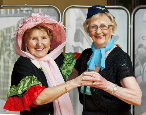 Pictured are Andersonstown Community Theatre(ACT) members Teresa McKeown and Nora Toland, residents of Tearman Fold.