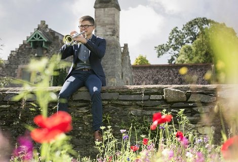Trumpeter, John Kerr, from Omagh, tunes up ahead of his performance at the Clandeboye Festival's, Young Musicians of the Future Concert, supported by Arts Council of Northern Ireland National Lottery funding.
