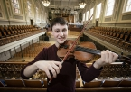 Samuel Kane, from Loughgall in County Armagh has been announced as the new Leader of the Ulster Youth Orchestra, and has been presented by the Arts Council of Northern Ireland with the exquisite 239 year old, Milton Violin