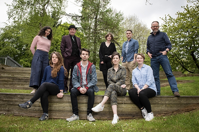 Pictured (L-R) are the 2019 programme participants (L-R)Clare McMahon, Sarah Gordon, Damian Smyth, Arts Council, Ross Wylie, Rebecca Mairs, Lyric Theatre, Clare Monnelly, Rían Smith, Annie Keegan and Jimmy Fay, Lyric Theatre.