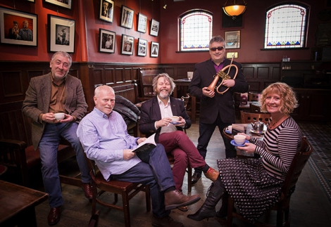Pictured (L-R) are Neil Martin, Frank Ormsby, Anthony Toner, Linley Hamilton and Sonya Whitefield, Arts Council of Northern Ireland