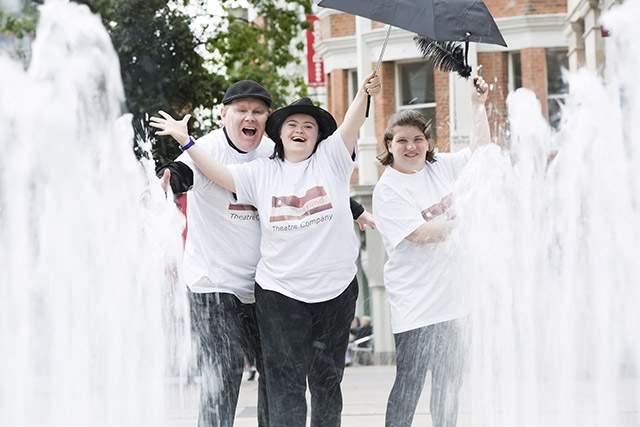 Participants from Stage Beyond Theatre Company based in Derry-Londonderry. The company has been awarded £29,016 under the latest round of Lottery Project funding from the Arts Council of Northern Ireland
