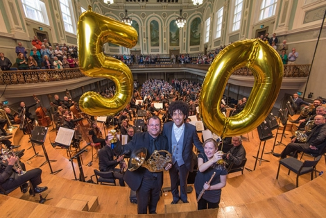 The Ulster Orchestra will mark their 50th anniversary with pop-up, surprise performances across Belfast on Wednesday 28th September.