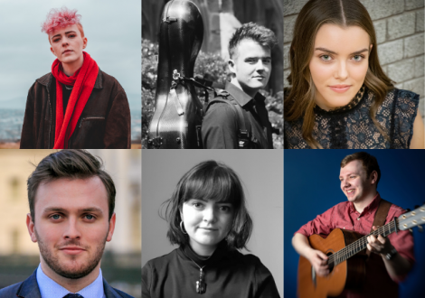 The six award recipients include classical awardees, opera singer, Andrew Irwin, cellist, Angus McCall and pianist, Justine Gormley; traditional music awardees, Jack Warnock and Rose Connolly and, singer-songwriter awardee, Roisin Donald (ROE).