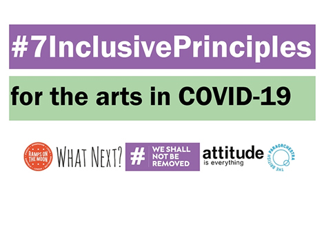 Organisations join up to promote Seven inclusive principles for disabled people in Arts & Culture
