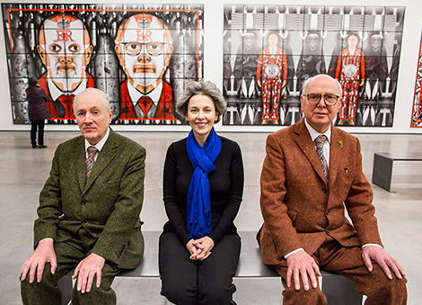 Gilbert & George SCAPEGOATING PICTURES at the MAC