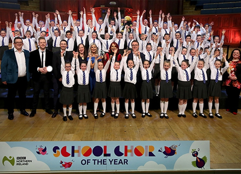 Ebrington Primary School and Thornhill College win BBC Northern Ireland School Choir Of The Year